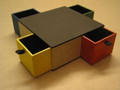 Handmade box with drawers, with tutorial