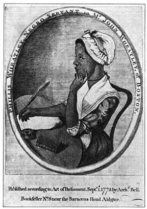 Reading the Works of Phillis Wheatley, Slave Poet of Colonial America: Phillis Wheatley, from her published book of poems