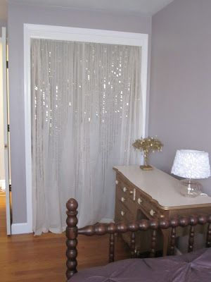 sequin curtains from Urban Outfitters