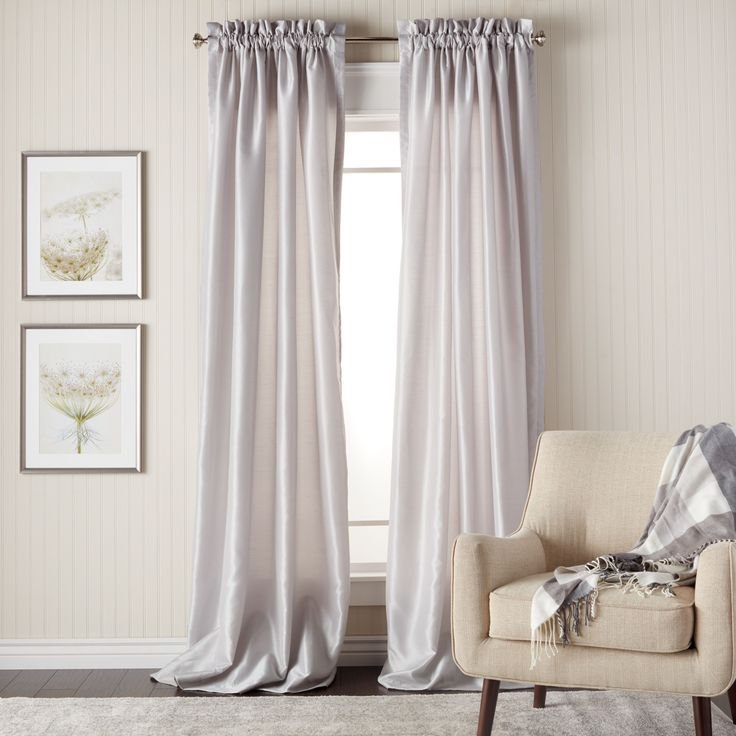 Heritage Landing 96-inch Faux Silk Lined Curtain Pair – 54 x 96