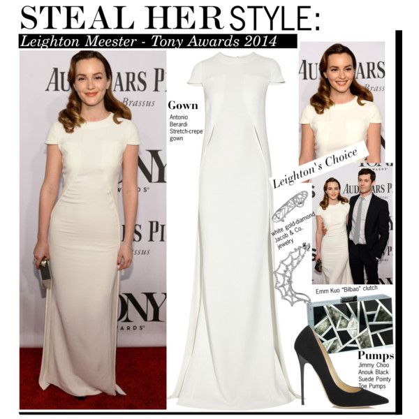 """""""Steal Her Style:Leighton Meester - Tony Awards 2014"""" by kusja on Polyvore"""