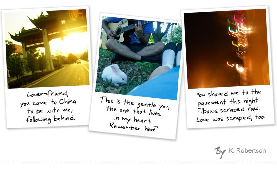 Love in three photos- love story haikus told with three photos