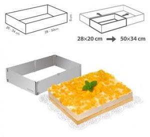 Tescoma 'DELICIA' Форма для торта регулируемая прямоугольная - Домовид 1660руб