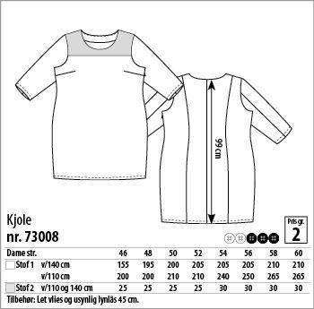 Kjole - 73008 - Stof & Stil