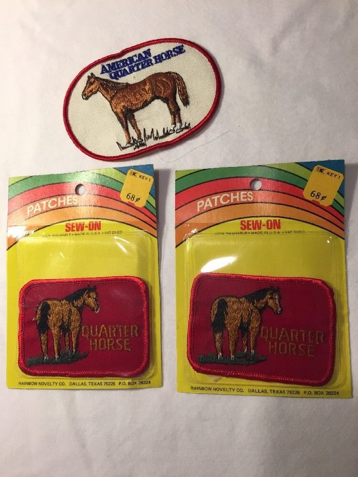 Quarter Horse Patch Lot Vintage American Quarter Horse NOS Red Sew On Patches