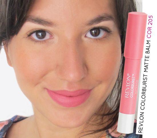 Batom rosa / Soft pink lipstick  Revlon Colorburst Matte Balm na cor  205