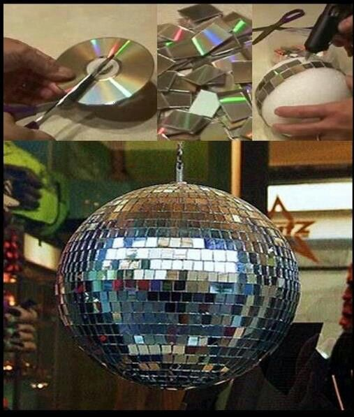 Good recycler project turn your ruined cd's into work of art