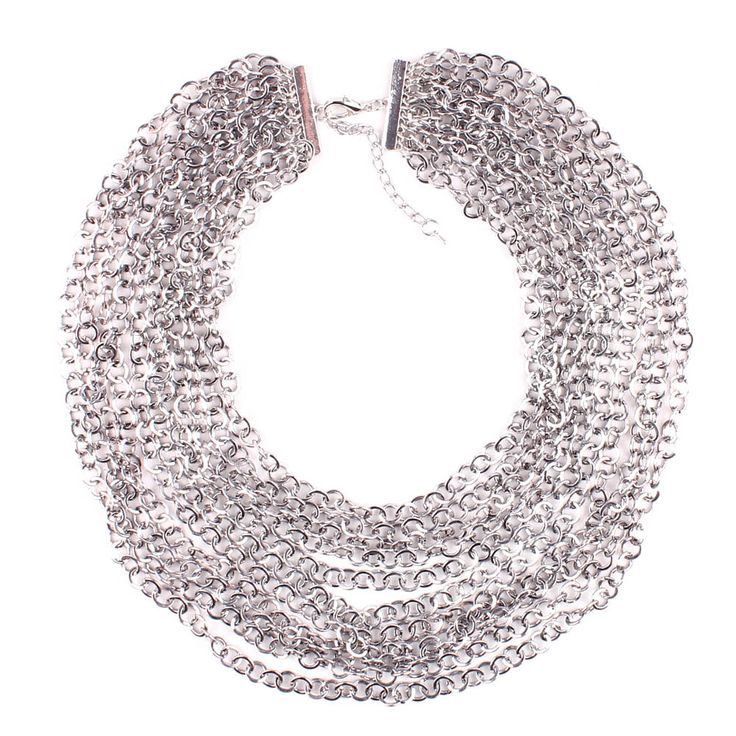 Silver Layered Necklace