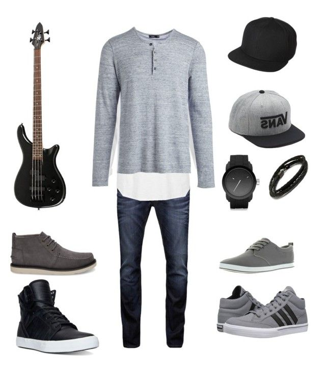 """""""Toma's Casual Look"""" by arini-lioni on Polyvore featuring Jack & Jones, River Island, Vince, Supra, adidas, Arider, Diesel, MIANSAI, UB by N.A.R. and Vans"""