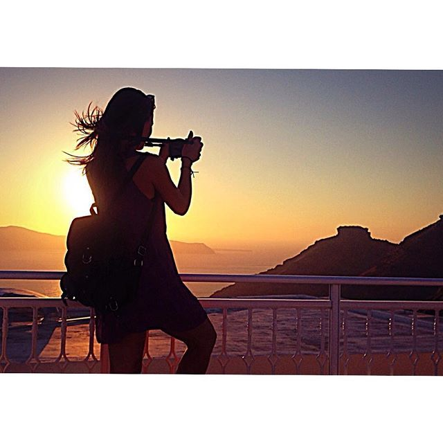 Capture the #moment! #Santorini #Sunset Photo credits: @vale92cb