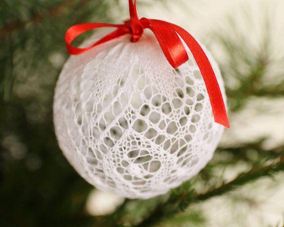 Елочные Шары Вязаные Елочные Шары Рождество Новый от DoubleLknits
