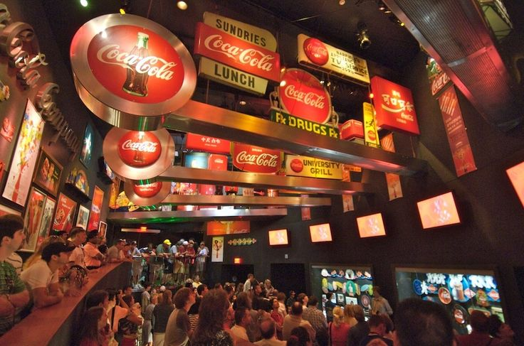 """The World of Coke - what a fun museum! Be sure to taste the drink called """"Beverly"""" from Italy..."""