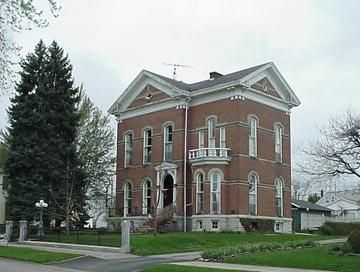 OldHouses.com - 1871 Italianate - Bright B. Harris Mansion in Greensburg, Indiana