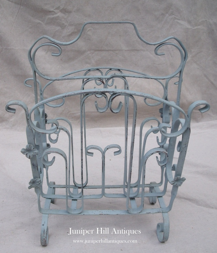 The cutest wrought iron magazine rack ever done in Louis Blue!: Delicious Paintings Furniture, Chalkpaint Projects, Paintings Annie Sloan, Wrought Iron, Chalk Paintings Surprises, Paintings Projects, Paintings Possibilities