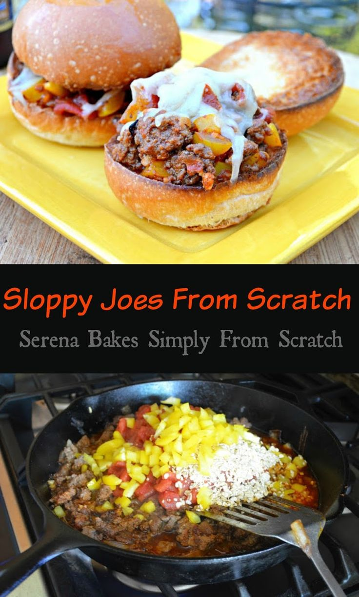 Sloppy Joes From Scratch with a gluten free option! Forget the canned stuff! These are way better!