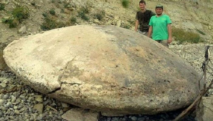 A team of investigators in Russia have found more than a dozen stone discs in the Volgograd region of Russia including one measuring four-meters in diameter. The team claims that the discs contain tungsten, a high density metal that has applications in military technology.