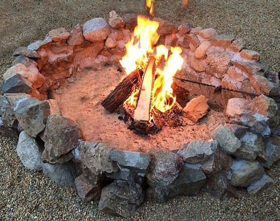 diy backyard fire pit, diy, how to, outdoor living