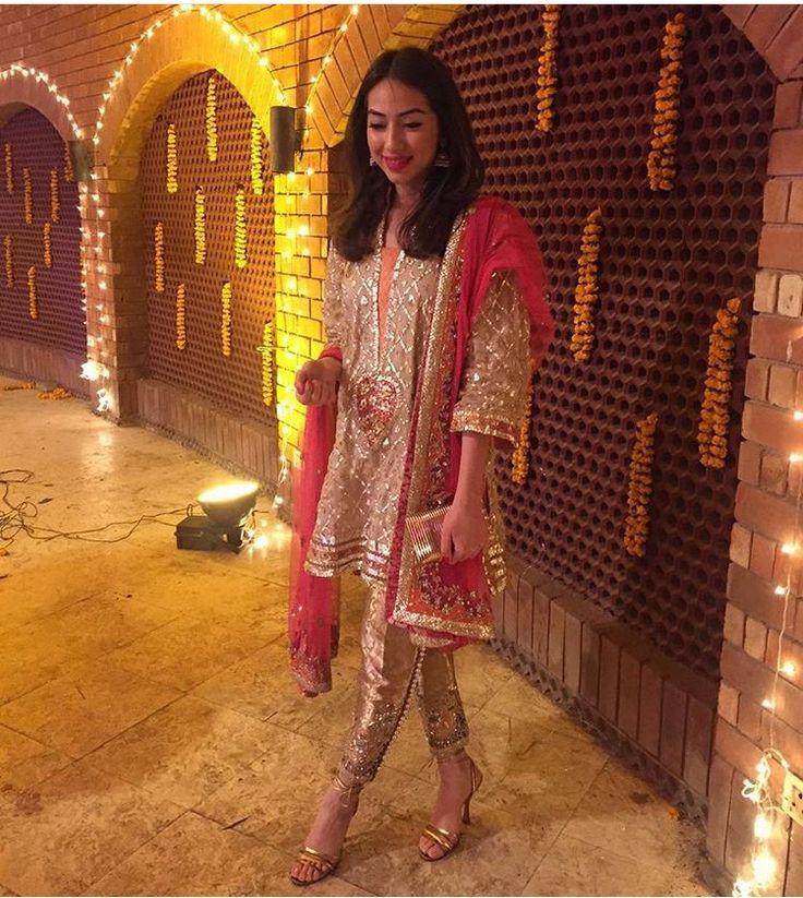 Pakistani gota ensemble by Ammara Khan.