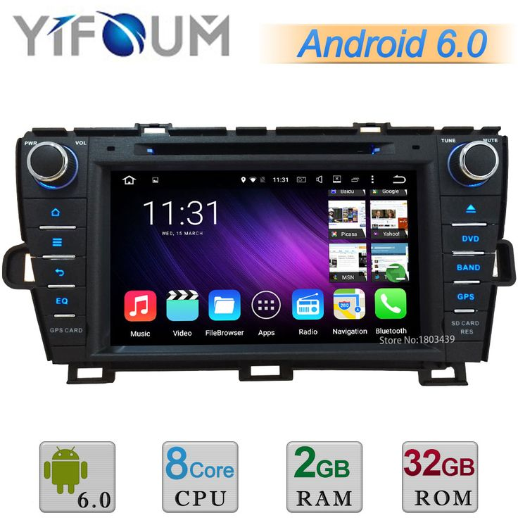 "2GB RAM 32GB ROM 8"" Android 6.0 Octa Core A53 64-Bit Car DVD Player Radio Stereo GPS For Toyota Prius LHD Left driving 2009-2015"