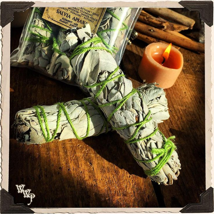 SMUDGE WANDS: WHITE SAGE 2 Pack For Spiritual Cleansing, Purification, Wishes, Divination & Meditation.
