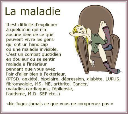 la maladie citation  | Citations et Panneaux Facebook à partager