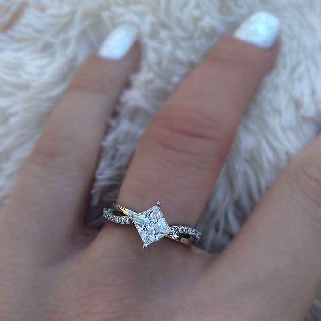 Pin On Princess Cut Engagement Rings