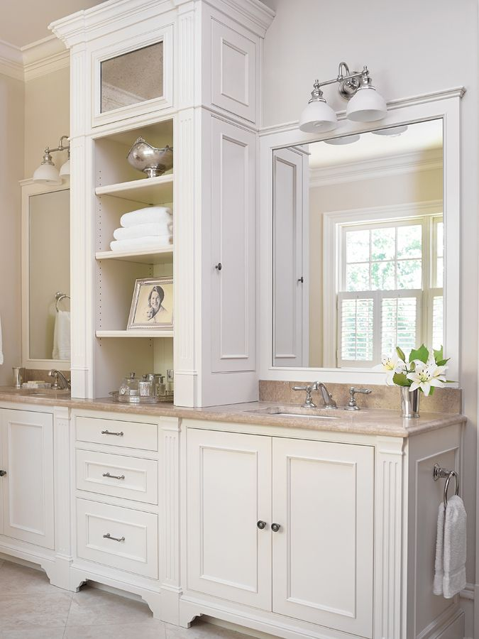 double sink vanity with center cabinet. Best 25  Master bath vanity ideas on Pinterest bathroom bathrooms and Kitchen design center