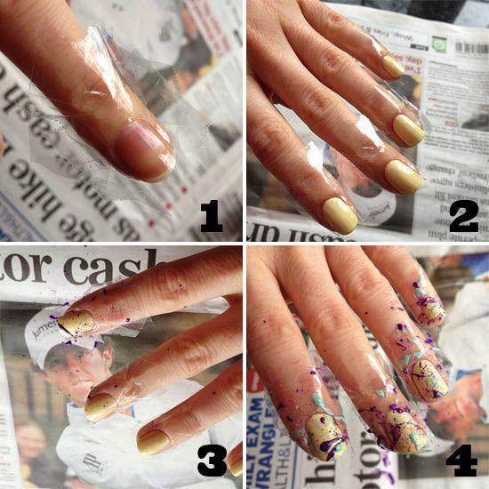 pollock nails.: Splatter Paint Nails, Nail Design Good, Nail Design Awesome, Hair Makeup Nails, Splatter Nails Going, Finger, Color Nails, Attack Nails, Hair Nails Clothes Makeup