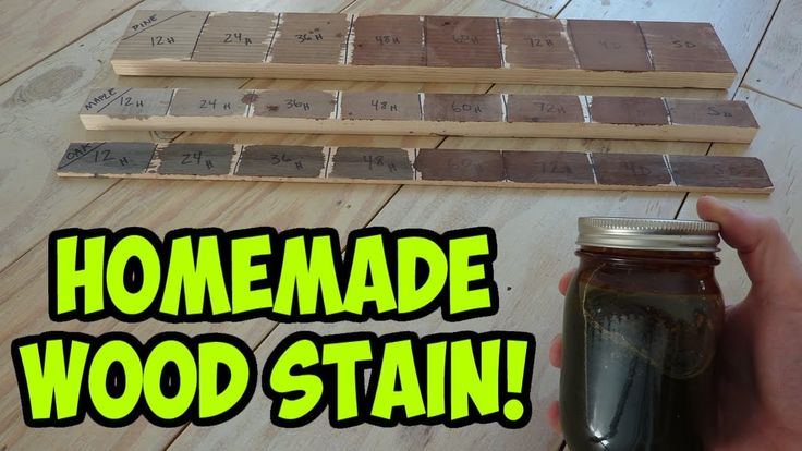 *DIFFERENT COLOR SAMPLES from same recipe! (Steel wool and vinegar... shows variations over time on different types of wood! So cool!) Easy Homemade Wood Stain - (Iron Acetate)