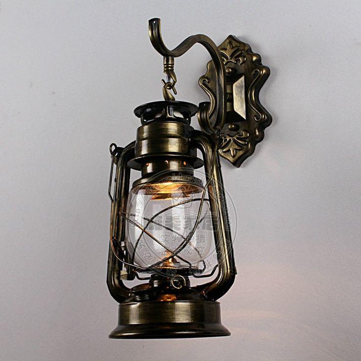 Vintage lantern wall lamp personalized kerosene lamp fashion iron wall light