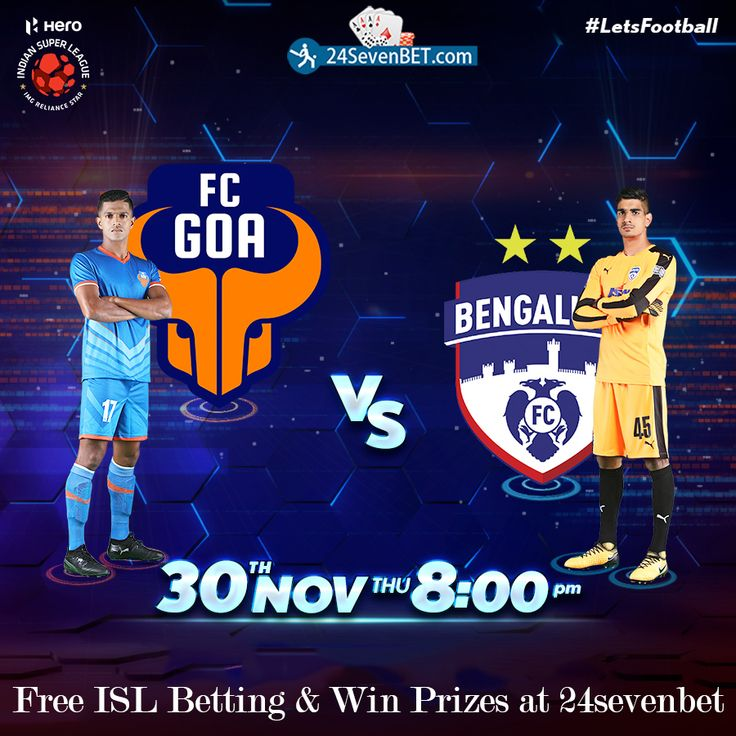 FC Goa plays their first home #Game of the season. Today's #Match Between FC Goa vs Bengaluru FC. Predict Who Will Win Today's Match? Place Free Bet & #Win Lots of Amazing #Prizes online at 24sevenbet