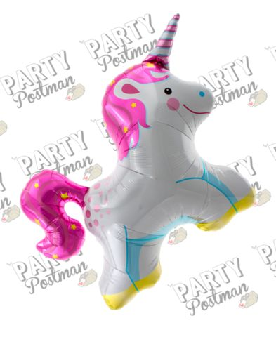 "36"" Unicorn Balloon - The Party Postman"