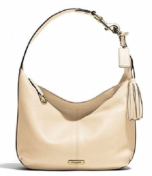 Nwt coach f23960 avenry pebble leather small hobo in stone for Coach furniture