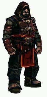 Carta Dwarf assassin. Dual wields daggers. Not a monk.