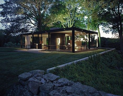 Glass House, New Canaan, Philip Johnson, Connecticut. © Juergen Nogai / Julius Shulman