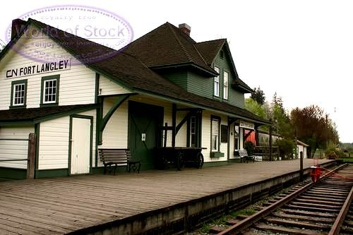 train stations | ... titled: Old Fort Langley Train Station, unlicensed use prohibited