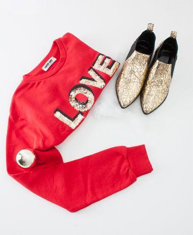 felpa Shopart e scarpe Tipe e Tacchi