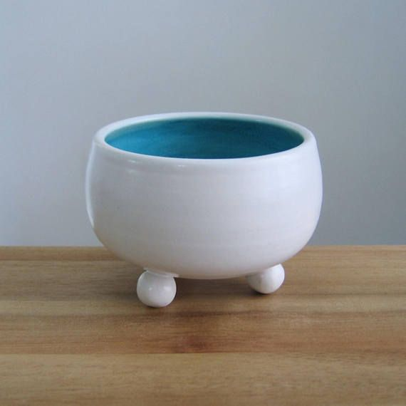 Small footed bowl or Air Planter Plant Pot Modern Ceramic
