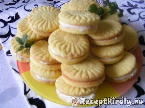 Citromos töltött keksz