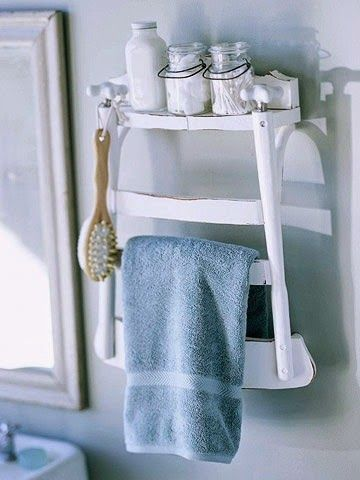 KP decor studio: DIY original colgador de toallas ** An original towel rack