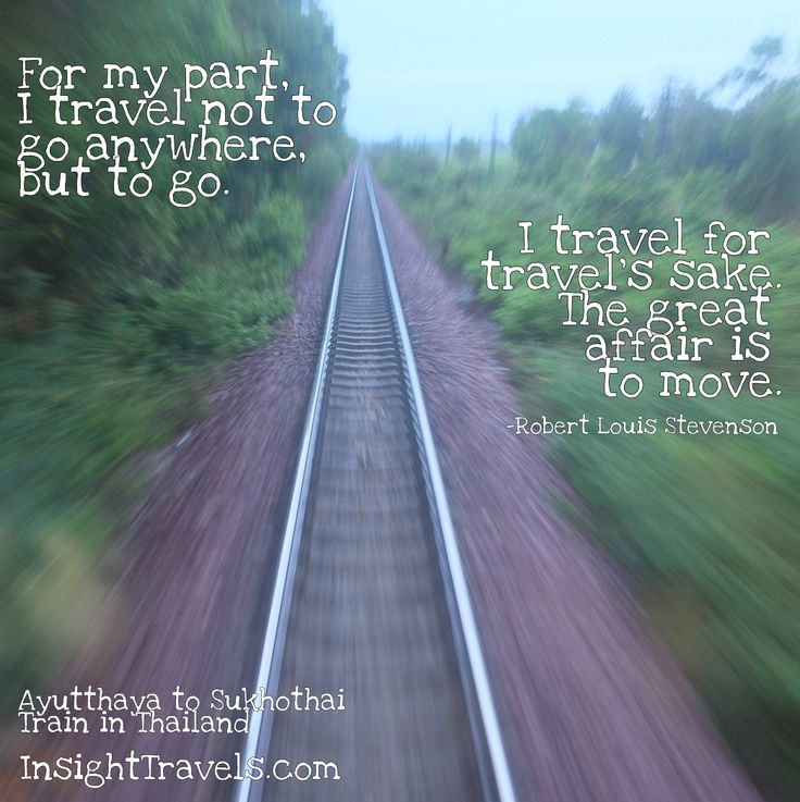 Quotes About Experience And Travel: Thai Railway, View From The Caboose. InsightTravels.com