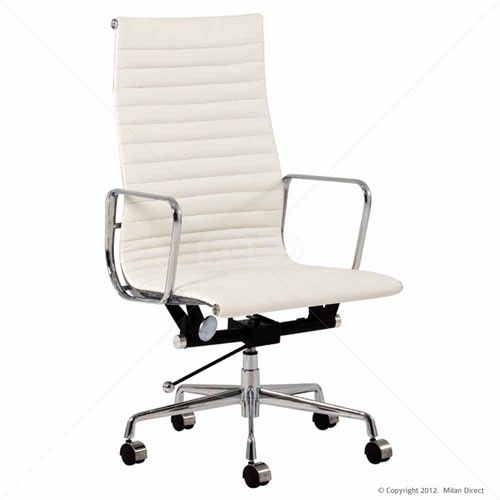 Eames Replica Management High Back Office Chair White - Buy White Office Chair & Office Chairs Online - Milan Direct