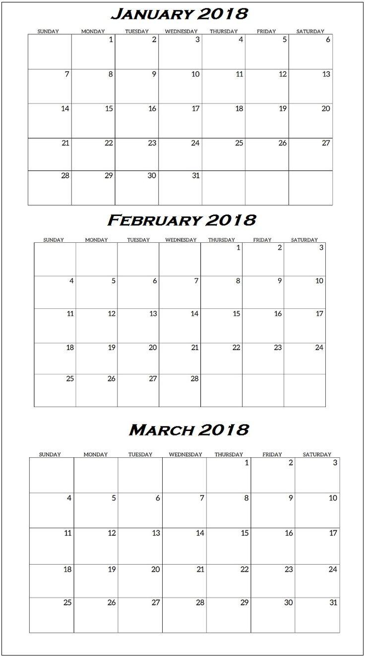 The 25 best quarterly calendar ideas on pinterest graphic january to march 2018 quarterly calendar alramifo Gallery