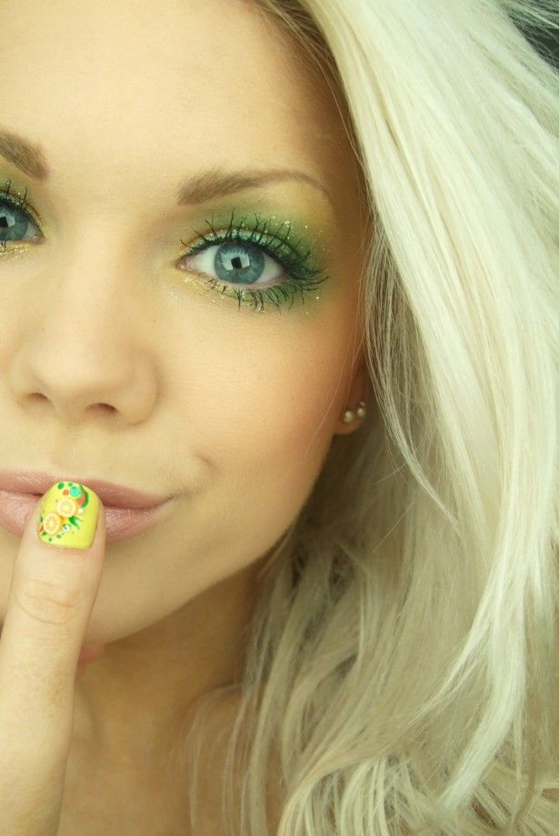 Lovely eye makeup.