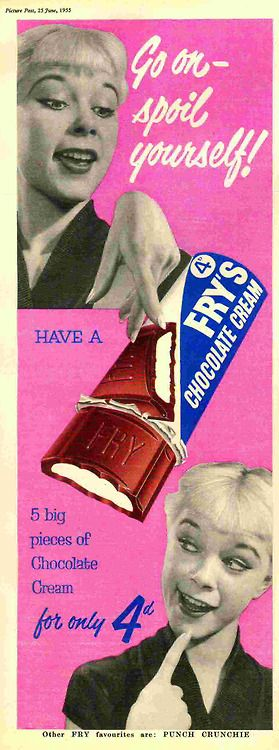 Fry's Chocolate Cream ad