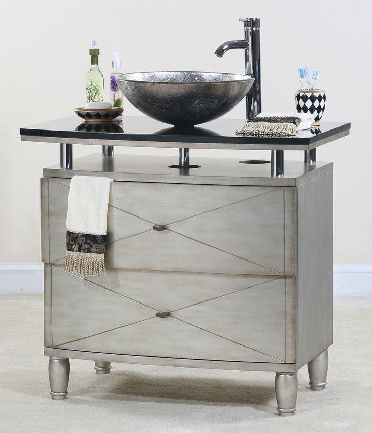 Contempo Silver Bathroom Vanity