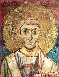 St. Leo the Great  (VIII century fresco)  Santa Maria Antiqua Church - Rome