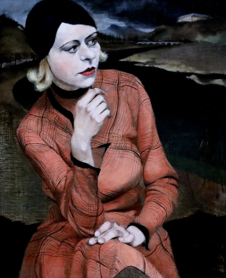 Kurt Eichler. 1905-1990.  Fille dans une robe à carreaux. Girl in a checked dress. 1930 Dresde. Gemälde Galerie Neue Meister. Albertinum.