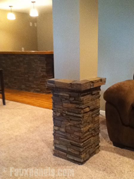Installing these faux interior columns yourself is a big payoff for a small amount of work.