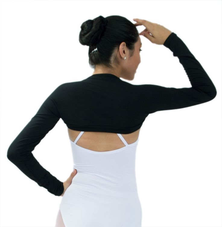 Basicwaist Coat, long sleeved,styled towards Ballet & Dance in general. This adultmodel ' is made of durable, movable high strength Suplexfabric. View a